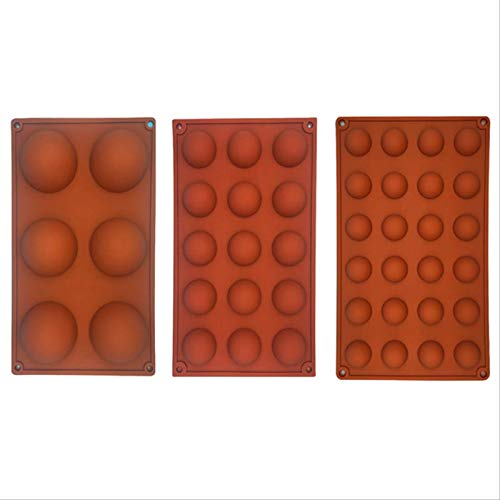 GYLW Hémisphère Forme Silicone 6/15/24 Trous Accessoires De Cuisson De Qualité Alimentaire Moule À Bonbons Au Chocolat Ustensiles De Cuisson Gadgets De Cuisine