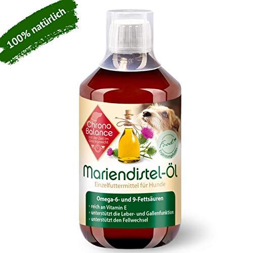 ChronoBalance® 500ml Mariendistel-Öl für Hunde - natürliche Nahrungsergänzung - unterstützt den Fellwechsel - reich an Vitamin E, Omega-6 und Omega-9
