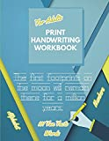 Print Handwriting Workbook for Adults: Improve your printing handwriting & practice print penmanship workbook for adults   Adult handwriting workbook