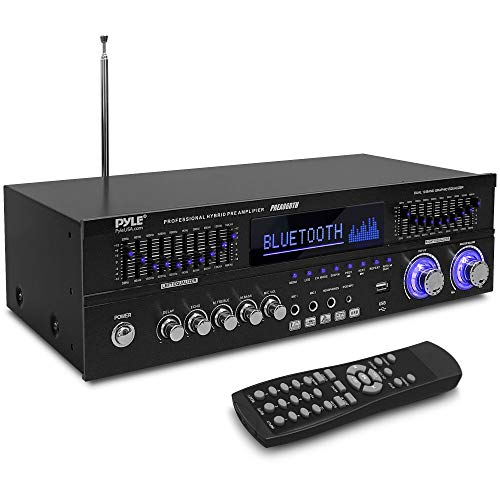 Bluetooth Hybrid Stereo Home Pre-Amplifier - Home Audio Rack Mount...