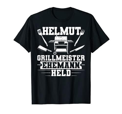 Herren Vatertag Lustig Grillen Helmut Ehemann Grillmeister Held T-Shirt