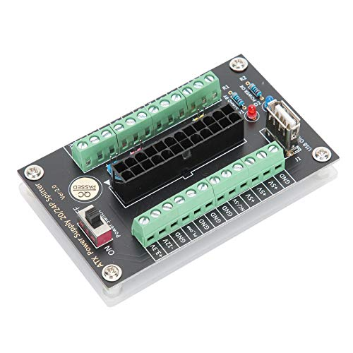 Módulo de Placa de conexión de Fuente de alimentación, indicador LED Estable y Duradero Módulo de Conector Conveniente, para computadora de Escritorio