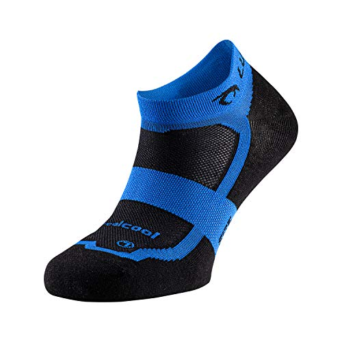 Lurbel Hill, Calcetines para running, calcetines transpirables y Anti-olor, Calcetines deportivos, calcetines para correr. Calcetines Unisex. (NEGRO - AZUL ROYAL, PEQUEÑA - S)
