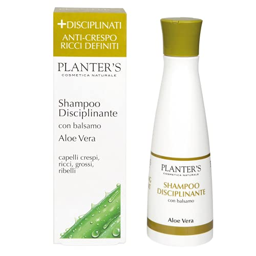 Planter's - Shampoo Disciplinante all'Aloe Vera. Districa, idrata e rende morbidi al tatto e al pettine i capelli crespi, ricci, grossi e ribelli. 200 ml