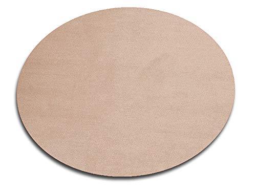 HEVO Vorwerk Bijou Sand Spielteppich Nicht nur für Kinder 200 cm Ø Rund