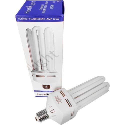 Hortilight ESL Energiesparlampe 125W Wuchs 6400K Wachstum E40 Fassung Grow