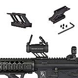 WADSN AIM-O F1型 スコープマウント スロットライザー ドットサイト T1 / T-1 / T2 / T-2 /TR02型エアソフトポリマーに応用 20mmレール (ブラック)