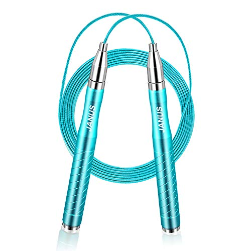 JANUS Jump Rope Workout, Adjustable Tangle-Free Skipping Rope, Self-Locking Design Speed Jump Rope, Weighted Jumping Rope Jump Ropes for Fitness, Crossfit, MMA Exercise