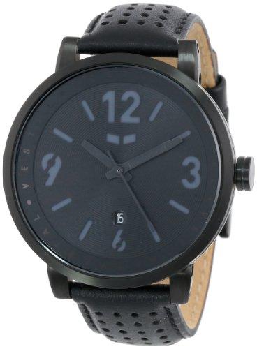 Vestal DPL001 - Reloj analógico de Cuarzo Unisex, Correa de Cuero Color Negro