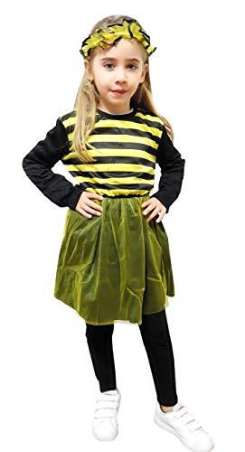 Maat l - 7/8 jaar - kostuum - bij - meisje - vermomming - carnaval - halloween cosplay