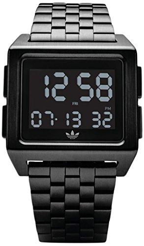 Adidas Herren Digital Uhr mit Edelstahl Armband Z01-001-00