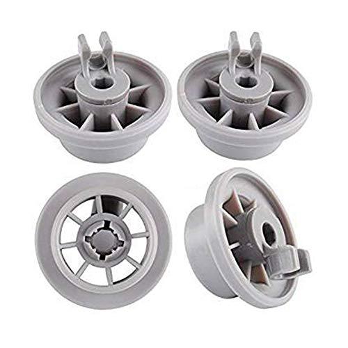 Lot de 4 roulettes pour panier inférieur de lave-vaisselle Bosch Siemens NEFF