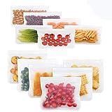 Bolsas de almacenamiento reutilizables, a prueba de fugas, bolsas para congelar (6 bolsas reutilizables para sándwich + 6 bolsas reutilizables) organización de viajes en casa por Dorey-Hom