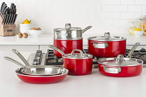 Viking Culinary 40041-9991-RDSC cookware sets, Multiple, Red
