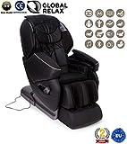 NIRVANA Sillón de masaje 3D - Negro (modelo 2019) - Sillon masajeador relax de shiatsu con 9...