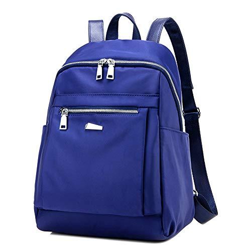 Beauty Case da Viaggio BorsaStudente di stoffa di nylon casual moda selvaggia pratica grande capacità zaino blu tromba