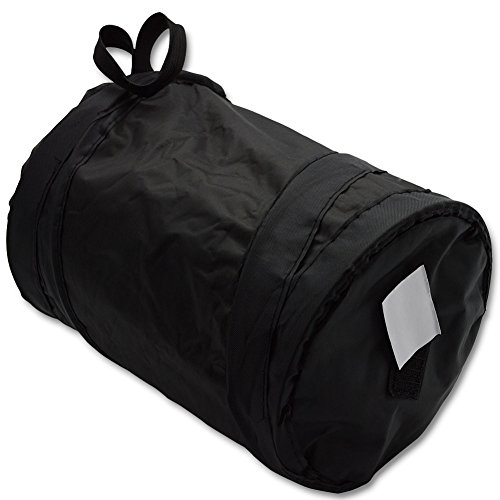 BeiLan車用ゴミ箱ポータブルダストボックス車内用取り付け簡単折りたたみ車内ポケット小物入れにも最適15*20cm黒