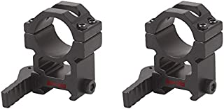 TAC Vector Optics Tactical 25mm 1 Inch Quick Release Scope High Picatinny QD Mount Ring 1 Pair Sale fit GAMO BSA Leapers Riflescopes Color Matte Black
