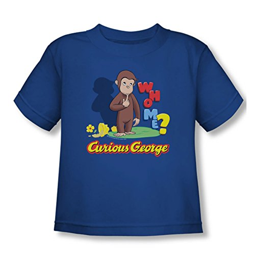 Curious George - - Toddler Qui Me T-shirt, 3T, Royal