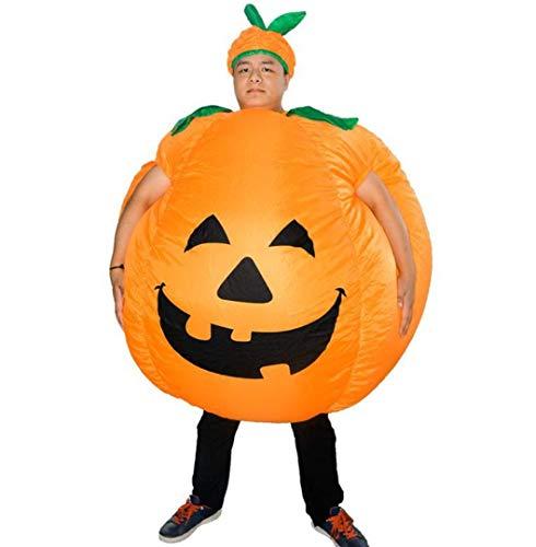 K&K Erwachsenes aufblasbares Halloween-Abendkleid-Kürbis-Cosplay-Kostüm, lustiges Neuheits-Cosplay für Halloween und Party-Spiele