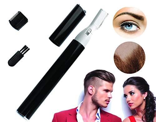 G-MOTIONS - Rasoir électrique de précision barbe et sourcils - Idéal pour tailler et affiner - Résultat professionnel - Brosse de nettoyage - Marche avec Pile LR03 (non inclue)