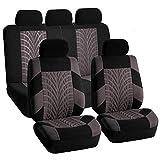 Protectores de fundas de asiento de coche Cubierta de asiento de coche universal cabido la mayoría automática Menaje accesorios del coche cubierta de asiento de tela de poliéster protector del amortig