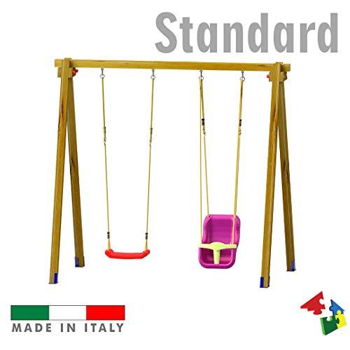 SavinOutdoor Altalena Standard N.1 Sedile Libero + N.1 Sedile a Gabbia