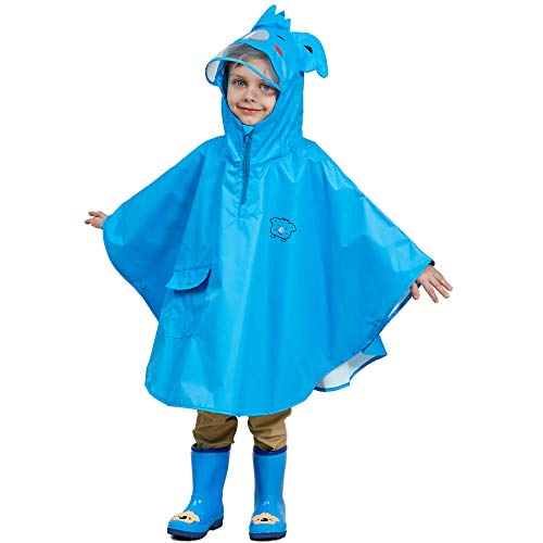 Bwiv Impermeables Niños Poncho Lluvia Chaqueta Impermeable