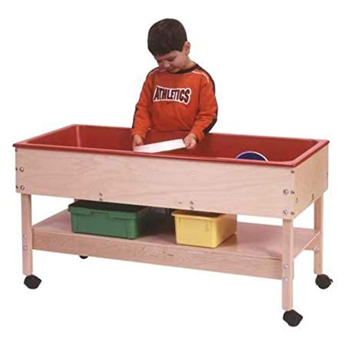 Steffy Wood Products Sand and Water Table with Shelf and with Top