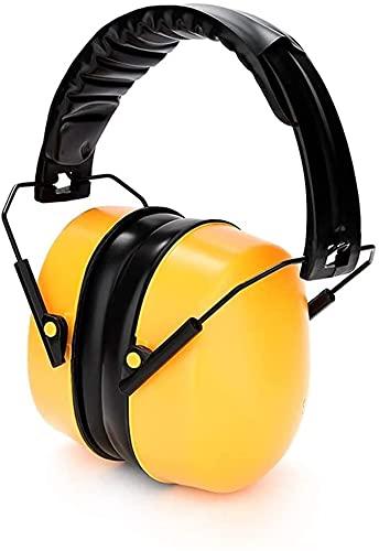 TXXM Casse-Oreilles protectrices, Casques de Protection Anti-Bruit, écouteurs Anti-Bruit (Color : Yellow, Size : 21dB)