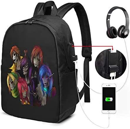 Chenhgee Creepypasta 5 3D Printing 17in with USB Backpack School Bag Travel Bag Mountaineering product image