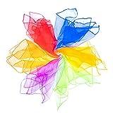 Mister M Pañuelos de Malabares | 6 Telas de Colores 60x60cm | Pañuelos de Baile | Diseñados por...