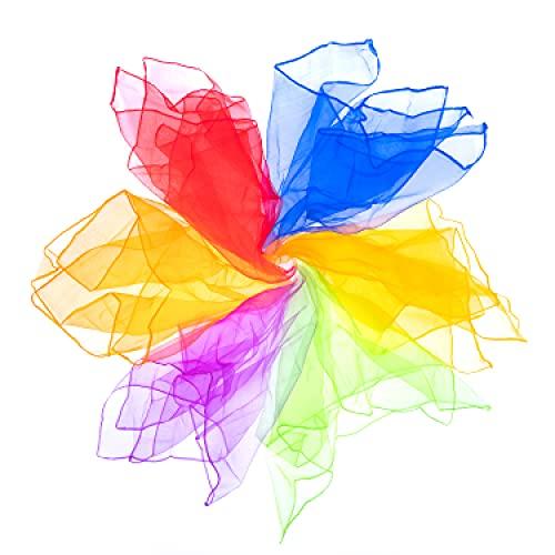 Mister M Pañuelos de Malabares   6 Telas de Colores 60x60cm   Pañuelos de Baile   Diseñados por el premiado Artista Callejero Fiestas Infantiles y Juegos Malabares   Incluye Material de vídeo Online