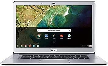 Acer 15.6in FHD(1920x1080) IPS Touchscreen Aluminum Chromebook- Intel Celeron N3350 Processor, 4GB LPDDR4 RAM, 32GB SSD, WiFi, Bluetooth, Chrome OS-(Renewed) (Silver+N3350)