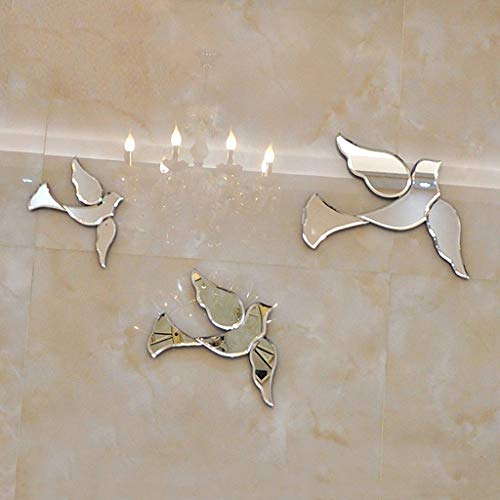 Escultura Espejo Pájaro Golondrina Paloma Mural Pegatinas de Pared Decoraciones de Pared Accesorios for el hogar Manualidades