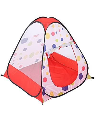 Tienda Campaña Infantil para niños y niñas Pop Up Carpa Plegable para Niños Plegable Carpa para Interiores y Exteriores, Regalo para Niños (Color : Red, Size : 95 * 95 * 92cm)