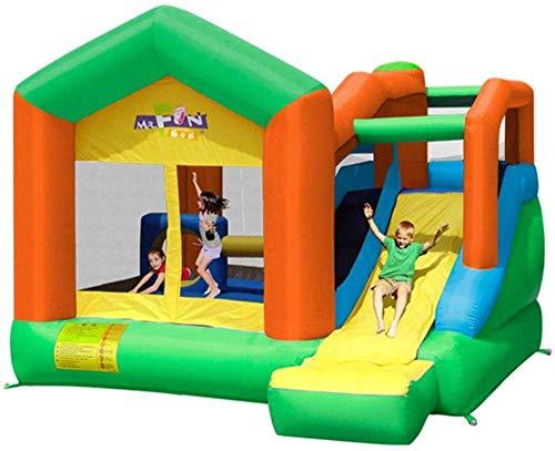 FGVDJ Castillo Inflable y tobogán, Tobogán para niños al Aire Libre Pequeño Castillo Travieso Trampolín para el hogar/Patio de Juegos Cuadrado Corral para niños Col