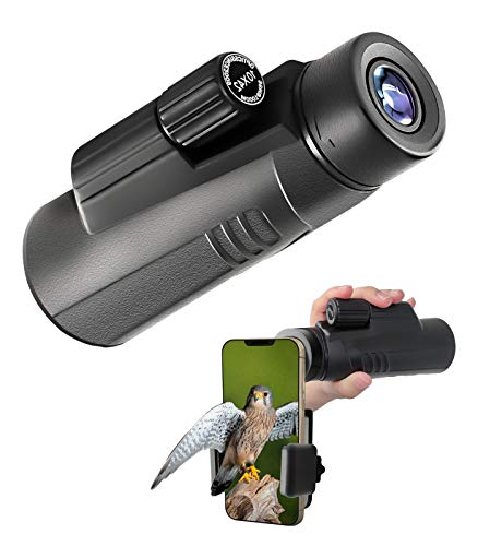 Waoops Monocular Telescope,High Power Waterproof Monocular with Smartphone Adapter & Tripod Low Night Vision for Bird Watching Hunting Camping Hiking Traveling,Gifts for Kids and Adults