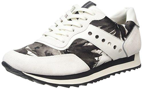Kennel und Schmenger Schuhmanufaktur Damen Frame Sneakers, Mehrfarbig (Weiss/schw.S.schwarz-Weiss 611), 38 EU