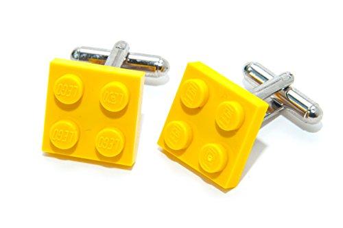 Jeff Jeffers Boutons de manchette avec plaques de Lego Jaune