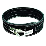FlexzFitness Lever Buckle Powerlifting Belt 10mm Weight Lifting Black Large