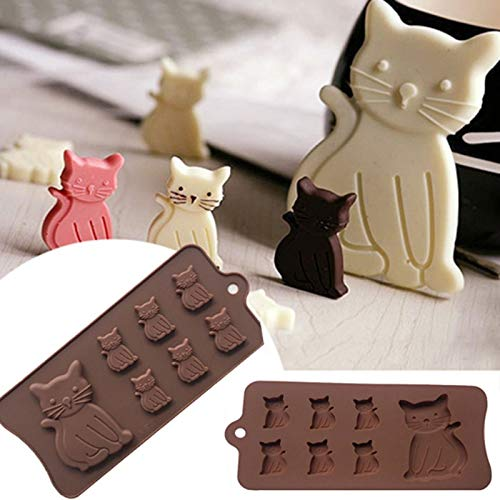 Best Buy! JYEMDV New Cat Kitten 7 Cavity Silicone Mold For Fondant, Gum Paste, Chocolate, Crafts MF1...
