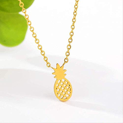 ZPPYMXGZ Co.,ltd Necklace Fashion Pineapple Necklaces Pendants in Gold Color Delicate Stainless Steel Jewelry Long Necklaces for Women Friendship Gifts BFF