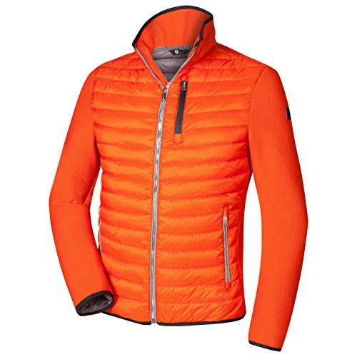 MILESTONE Ken Herren Steppjacke im Materialmix (50, Orange)