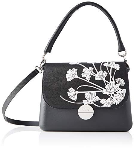 O bag Borsa Completa Glam 54, bolso bandolera para Mujer, Negro (Negro), 8x27x19 centimeters (W x H x L)