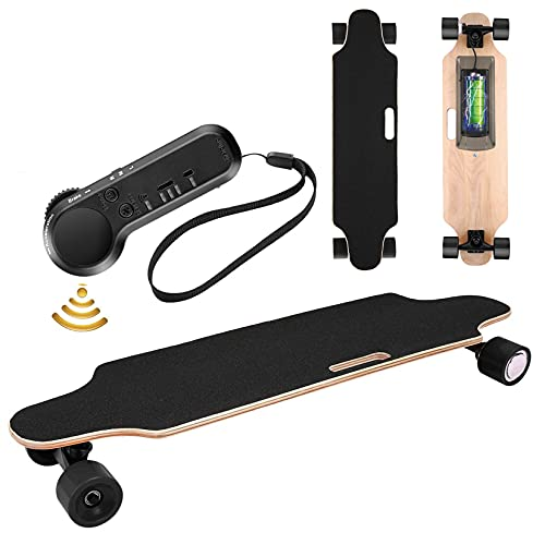 Electric Skateboard Youth Electric Longboard with Wireless Remote Control, 12 MPH Top Speed, 10...