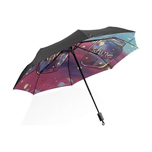 Paraguas a Prueba de Viento de Viaje Deja Que tu luz Brille...