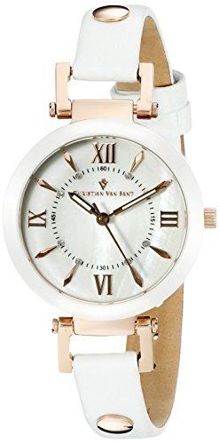 Christian Van Sant Uhr mit Schweizer Quarzuhrwerk Cv8163 Petite weiß 31 mm