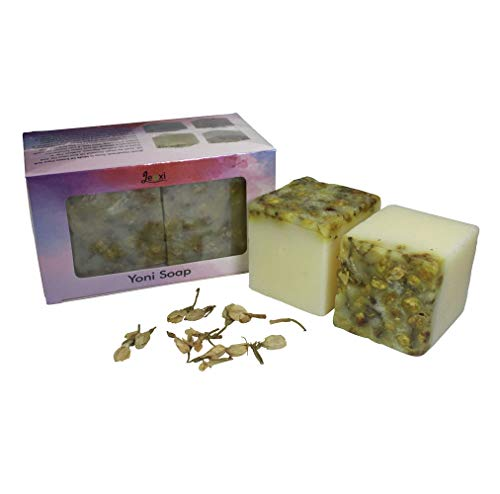 2 Pieces Set Yoni Bar Soap Collection, Natural Handmade Jasmine Yoni Soap, Yoni Cleansing Bar for women, Wash Away Odor & Germs