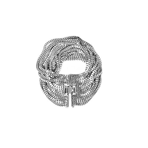 Armband 14Reihen Venezianerkette–Metall Silber rodiniert